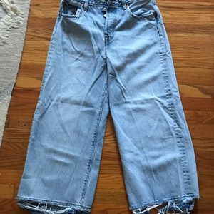 Levi's cropped wide leg